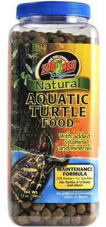 Zoo Med Natural Aquatic Turtle Food - Maintenance Formula (Pellets) 12 oz - Pack of 4
