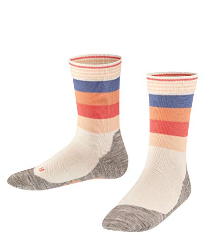 FALKE Unisex Kinder Active Fox K SO Socken, Weiß (Off-White 2040), 31-34