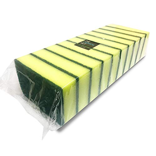 10 Pack of Heavy Duty Catering Sponges / Scourers for Kitchens Bathrooms and Heavy Duty Cleaning