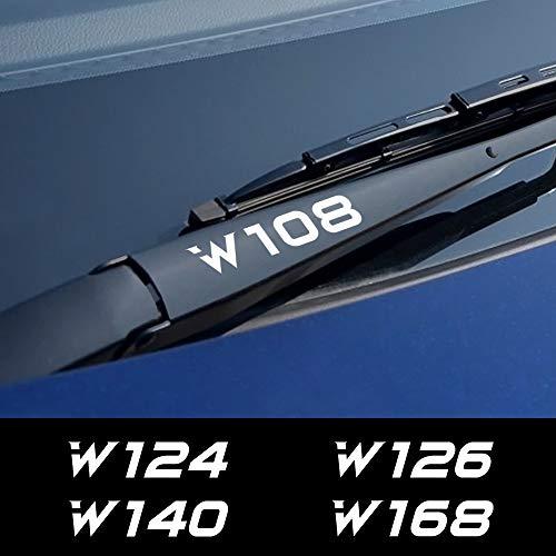 FSXTLLL 4 STÜCKE Auto Aufkleber Scheibenwischer Aufkleber, Für Mercedes Benz W205 W212 W204 W203 W210 W213 W220 W221 W222 W124 W126 W140 W168 W169 W176