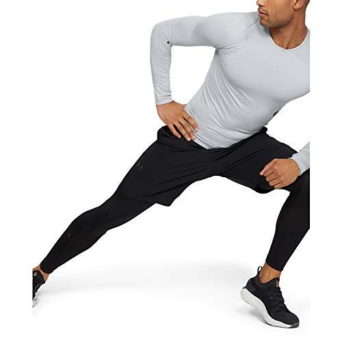Under Armour Hommes UA Rush legging pour homme, collant running homme avec technologie Rush, legging de sport avec coupe compression -Noir-S