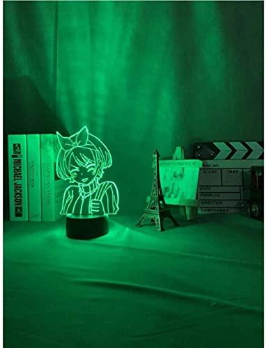 3D Ilusión Optica Luz Nocturna Decoración Tabla Lámpara De Escritorio Anime 7 Colores Control Remoto Toque Juguetes Decoración Navidad Regalo De Cumpleaños