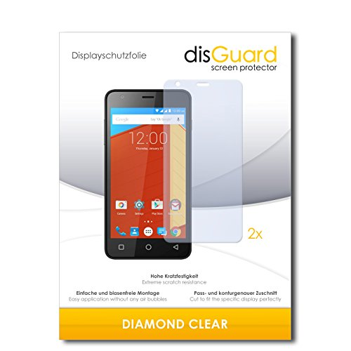 disGuard 2 x Bildschirmschutzfolie Gigabyte GSmart Classic Schutzfolie Folie DiamondClear unsichtbar