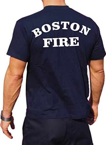 feuer1 Funktions-T-Shirt Navy mit 30+ UV-Schutz, Boston Fire Dept, Workshirt