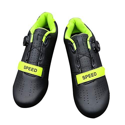 Honeyhouse Herren Rennrad Fahrradschuhe Spin Schuhe mit kompatiblen Stollen Peloton Schuh mit SPD und Delta für Herren Lock Pedal Fahrradschuhe (Black,EU41-UK7.5)