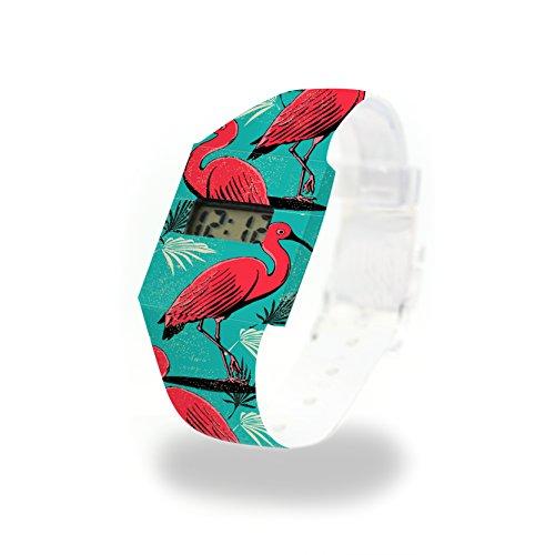 CRANE Pappwatch / Paperwatch / Digitale Armbanduhr aus Tyvek®, absolut reißfest und wasserabweisend