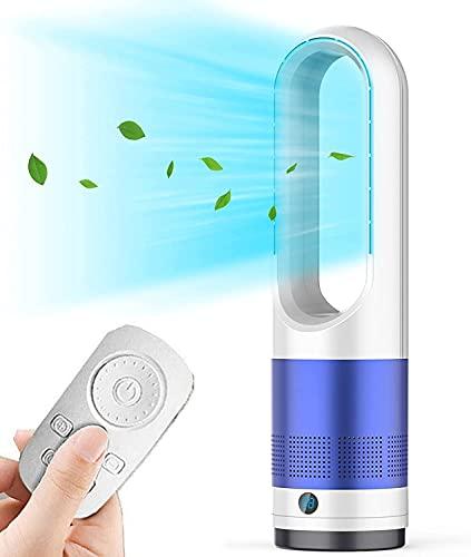 Ventilador de torre con mando a distancia, 8 velocidades, temporizador 8H, fácil de limpiar, pantalla LED con apagado automático, ventilador portátil sin aspas para dormitoriooficina color