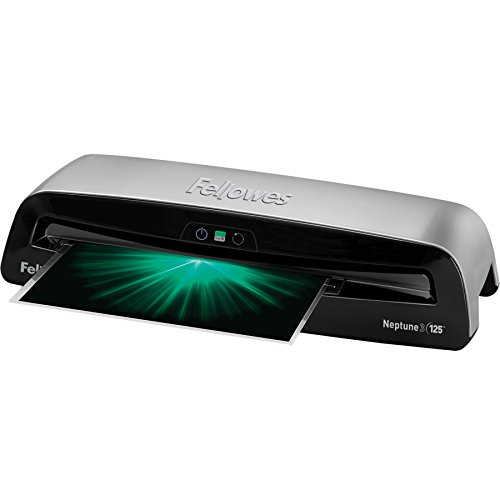 Fellowes Laminator Neptune 3 125, Rapid 1 Minute Warm-up Laminating Machine, Auto Features with...