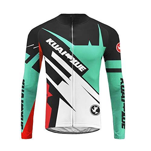 UGLY FROG Winter Radtrikot Herren Langarm Thermo Atmungsaktiv Elastische Schnell Trocknend Fahrradtrikot Shirt für Radfahren MTB RongBL03