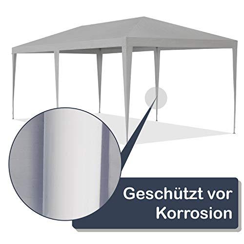 ArtLife Partyzelt 3x6 m grau mit 6 Seitenwände – Pavillon wasserabweisend & stabil – Festzelt für Garten, Terrasse, Party - Bierzelt - 6