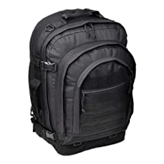 Aluminum back stays Hydration Compatible Expandable main compartment Padded waist band Rugged, abrasion-resistant exterior