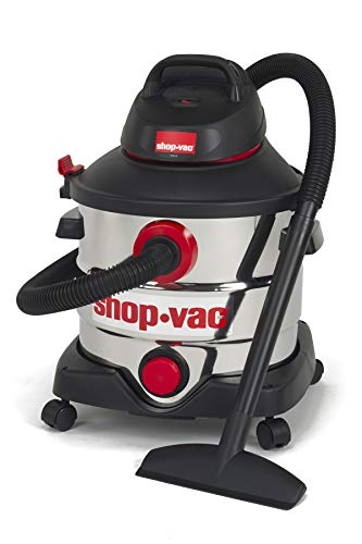 Shop-Vac 5979403 8 gallon 6.0 Peak Hp Stainless Wet Dry Vacuum,Black