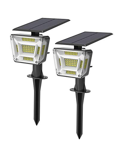 AMORNO 96 LEDs Solar Landscape Spotlights, Outdoor Waterproof Super Bright Solar Powered Wall Lights 2-in1 Landscaping Lights for Garden Patio Pathway Yard Lawn Porch