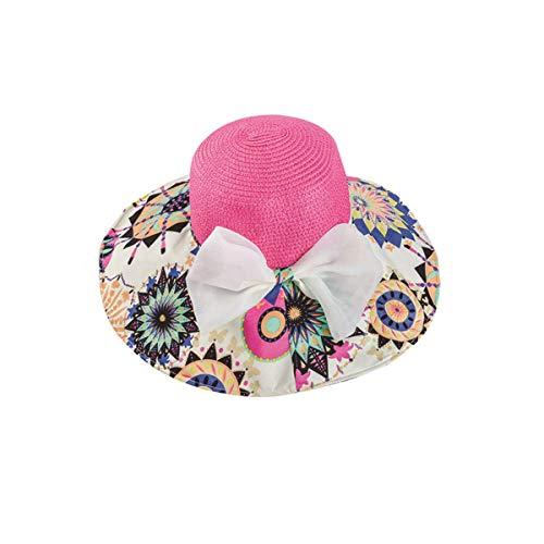 HUIJUNWENTI Sombrero, Sombrero para el Sol, Sombrero para el Sol, Color; Amarillo Hierba, Rosa, Rojo Rosa, Tamaño: Ajustable Good (Color : Rose Red)