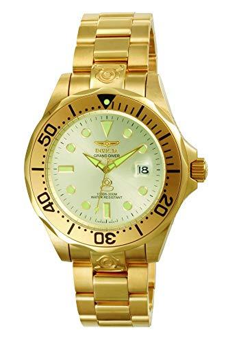 Invicta 3051 Pro Diver Reloj para Hombre acero inoxidable Automático Esfera oro