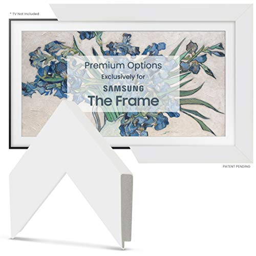 """Deco TV Frames - Gloss White Smart Frame Compatible ONLY with Samsung The Frame TV (65"""", Fits 2021 Frame TV)"""