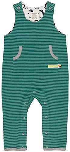 loud + proud Baby-Unisex Ringel Aus Bio Baumwolle, GOTS Zertifiziert Strampler, Grün (Jade Jad), 56 (Herstellergröße: 50/56)