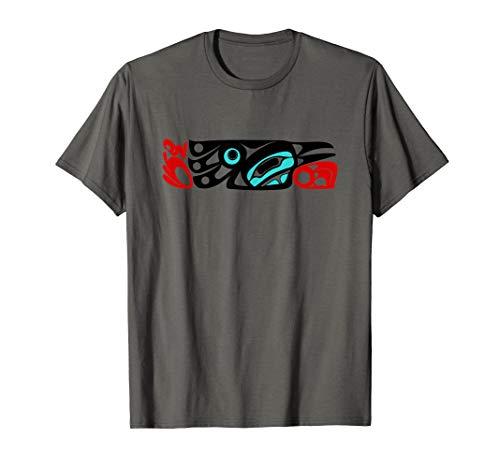 Cultural Raven of Northwest Coast Formline Art Design T-Shirt