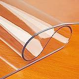 KDDEON Cubierta de Protector de Mesa con Borde Biselado de Vidrio Suave de PVC de 2mm,Mantel Transparente Impermeable,para Mesa de Centro,para Bar/Hotel/Cocina/Picnic (45x90cm/18x35in)