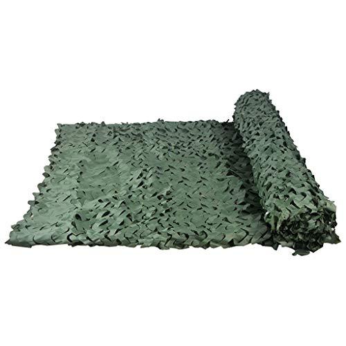 Tentzeil jungle, modieus, camouflage-net, puur groen, één bloem, camouflage, voor buiten, vogelobservatie, binnendecoratie, net, verschillende maten verkrijgbaar (maat: 1 1.5*5m