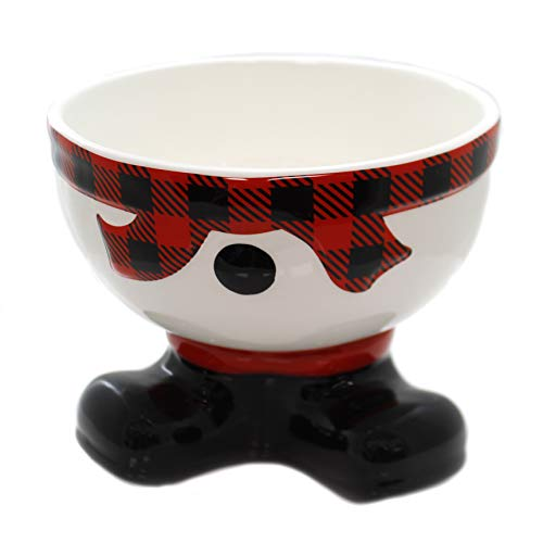burton burton servewares Burton & Burton Bowl Footed Snowman Tartan