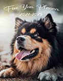 Five year Planner 2021-2025: Cute German Shepherd Puppy -art Photo / Daily Weekly Monthly / 60 Month Calendar - Jan to Dec|Dated 8.5x11 Life ... Organiser / Holiday Gift for Dog lovers