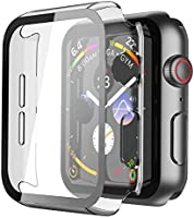 Misxi Hard Case with Screen Protector Compatible with Apple Watch Se Series 6 Series 5 Series 4
