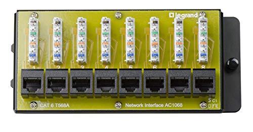 Legrand - OnQ AC1068 8-Port Cat 6 Network Interface Module, Yellow