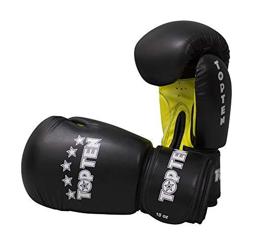 TOP Ten Boxhandschuhe, R2M, schwarz-gelb, 10 Oz