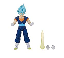 Vegito's transformation to Super Saiyan Blue occurs during the legendary fight with Fusion Zamasu. Known as Vegito Blue, his physical changes include spiked blue hair and enhanced muscular form BANDAI'S DRAGON STARS 6.5-INCH FIGURE: Fans and collecto...
