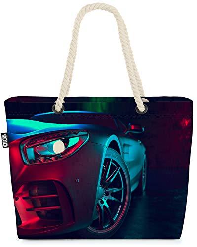 VOID Modern Car Auto Strandtasche Shopper 58x38x16cm 23L XXL Einkaufstasche Tasche Reisetasche Beach Bag