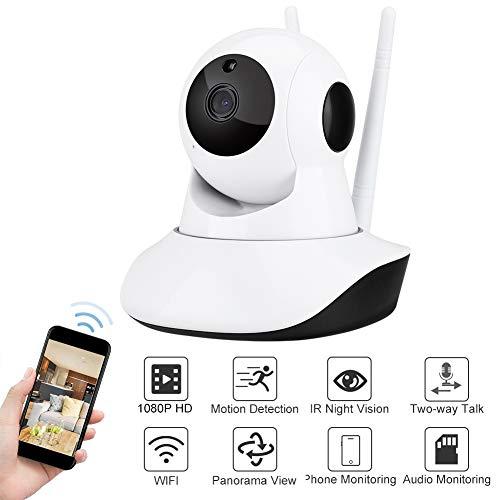 WiFi-babyfoon, WiFi-bewakingscamera CCTV-infrarood nachtzicht WiFi-webcam HD met PIR-bewegingsinductie voor thuisbeveiliging voor het bewaken van kinderen, ouderen (EU-stekker)