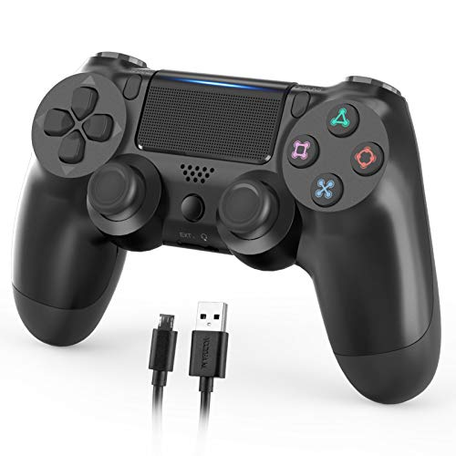 Nolansend Wireless Controller Compatible with PS4, Dual Vibration Wireless Gamepad Controller Remote Joystick Compatible with Playstation 4/Pro/Slim with Motion Motors, Audio Function and USB Cable