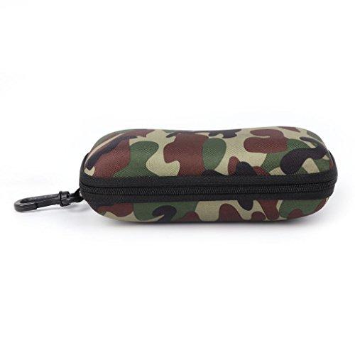 ZZALLL Estuche para Gafas Estuche para Gafas de Sol Camuflaje Protector de Almacenamiento Cremallera Envase Unisex