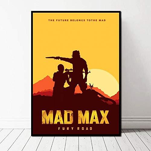 TELEGLO (No Frame) 50 * 70cm Mad Max Fury Road abstrakte Kunst Leinwand Poster Wandbild für Wohnzimmer