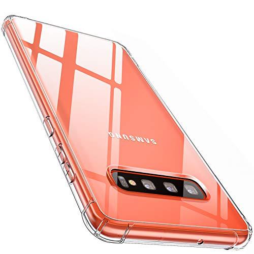 CANSHN Galaxy S10 Plus Hülle, Hochwertig Transparent Weiche Durchsichtig Dünn Handyhülle mit TPU Stoßfest Fallschutz Bumper Hülle Cover für Samsung Galaxy S10 Plus 6.4 Zoll - Klar