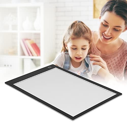 Snufeve6 Tableta gráfica, Placa de Copia LED ultradelgada A4 USB multifunción Luminosa con Escala incorporada para animación para Dibujar
