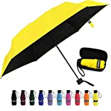 Yoobure Small Mini Umbrella with Case Light Compact Design Perfect for Travel Lightweight Portable Parasol Outdoor...
