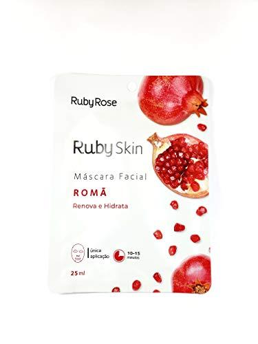 Máscara Facial De Tecido Skin Ruby Rose ROMÃ HB-700