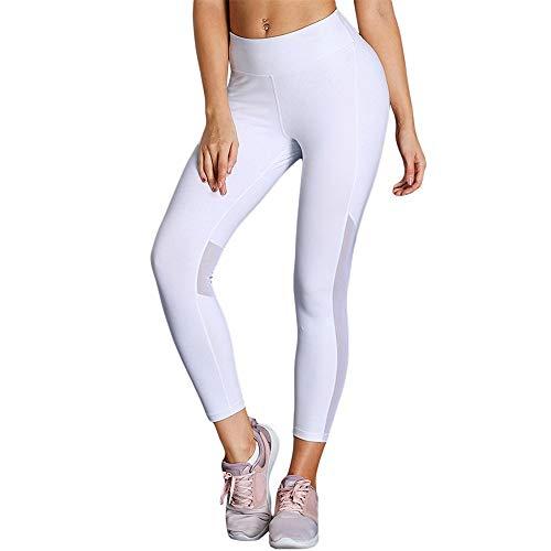 Jtoony-SP vrouwen Yoga Leggings vrouwen hoge taille hardlopen Yoga Leggings Casual Gym hardlopen joggingbroek met net stiksels