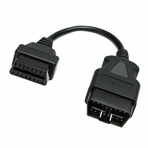 OBD 2 II Verlängerung Kabel Stecker auf Buchse 20 cm 16 Pin Diagnose Interface