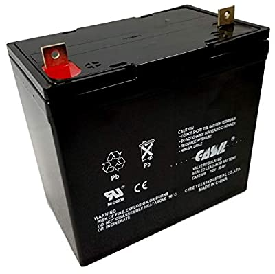 12v 50ah Battery SLA AGM Deep Cycle Battery for 55ah Power Boat Pontoon Electric Trolling Motor by Casil