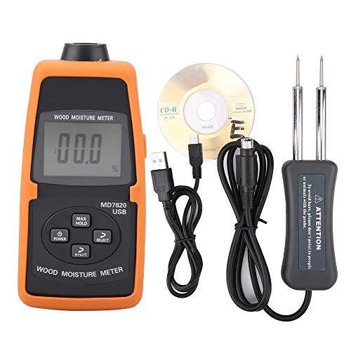 Digitaal gereedschap, luchtvochtiger voor hout, MD7820, USB, temperatuurweergave, tester met sensor en afstandsbediening (zonder batterij)