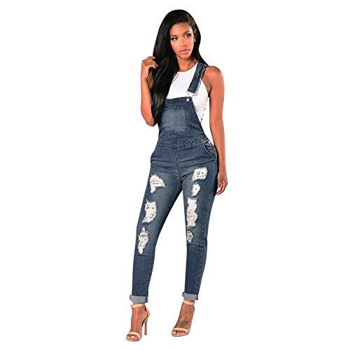 homebaby donna Pantaloni Jeans Donna Salopette Denim Tute Tuta con Tasche Cotone Ragazza Loose Monopezzi E Tutine Estive Tuta Sportiva Jumpsuit Donna Eleganti Completo