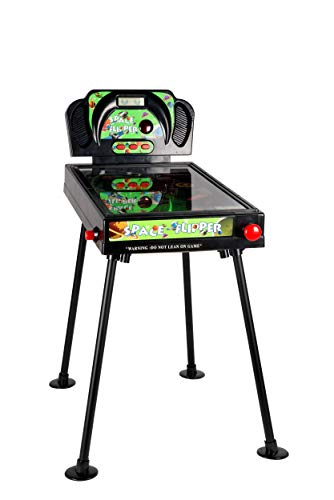 Eddy Toys Tischflipper für Kinder, Elektronischer Flipperautomat, Flipper mit Sound und Licht-Funktion, Pinball Zähleranzeige digital