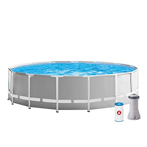 INTEX Prism Frame Piscine avec épurateur 457 x 122 cm Multicolore
