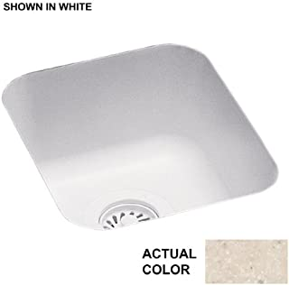Swanstone US01513SB.051 Solid Surface Undermount Single-Bowl Kitchen Sink, 13.5-in L X 15.5-in H X 6.5-in H, Tahiti Sand