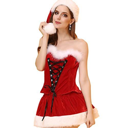 XL- Traje de Cosplay para mujer, traje de navidad, Papá Noel, disfraces, conjunto sexy de Navidad para…