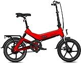Bicicleta eléctrica Bicicleta eléctrica por la mon Bicicleta eléctrica plegable, portátil plegable bicicleta doble freno de disco, con 250W de motor, 36V7.8Ah de gran capacidad de la batería, la veloc