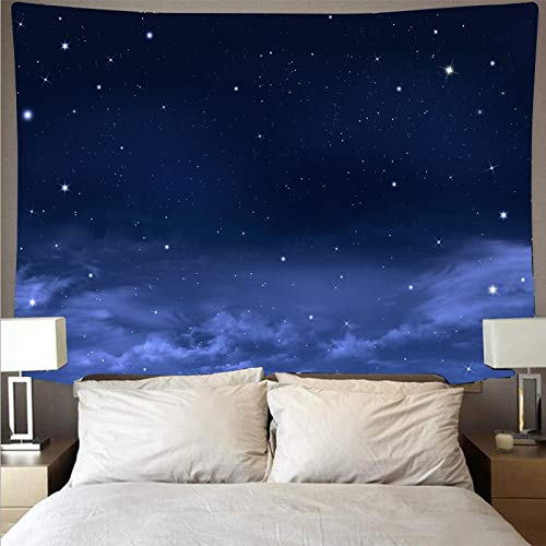 KHKJ Misterioso Universo Espacio Cielo Estrellado Gran Arte Tapiz psicodélico Colgante de Pared Toalla de Playa Manta A2 200x180cm
